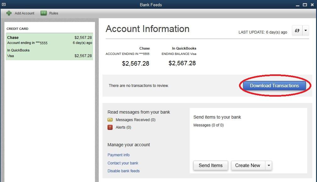 Downloading Bank Transactions